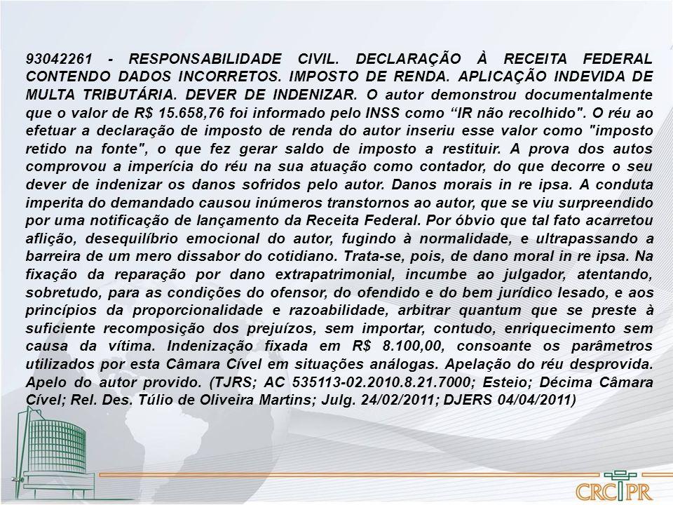 93042261 - RESPONSABILIDADE CIVIL