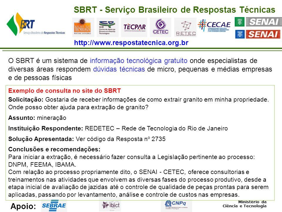 SBRT - Serviço Brasileiro de Respostas Técnicas