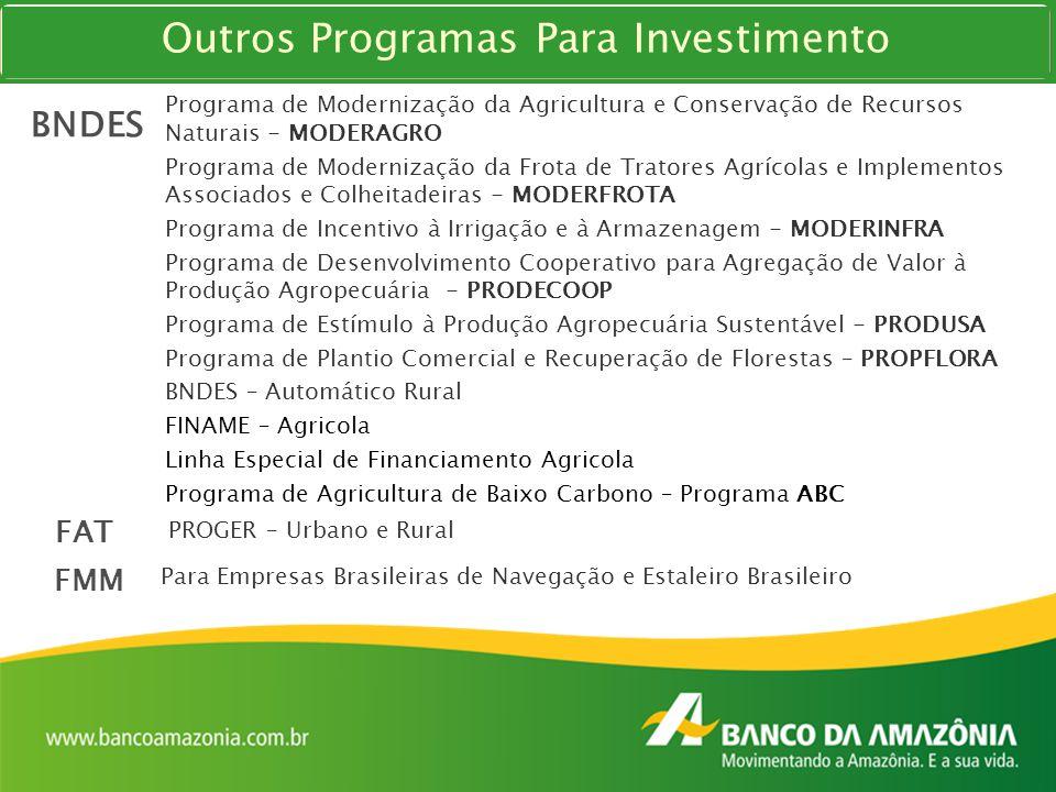 Outros Programas Para Investimento