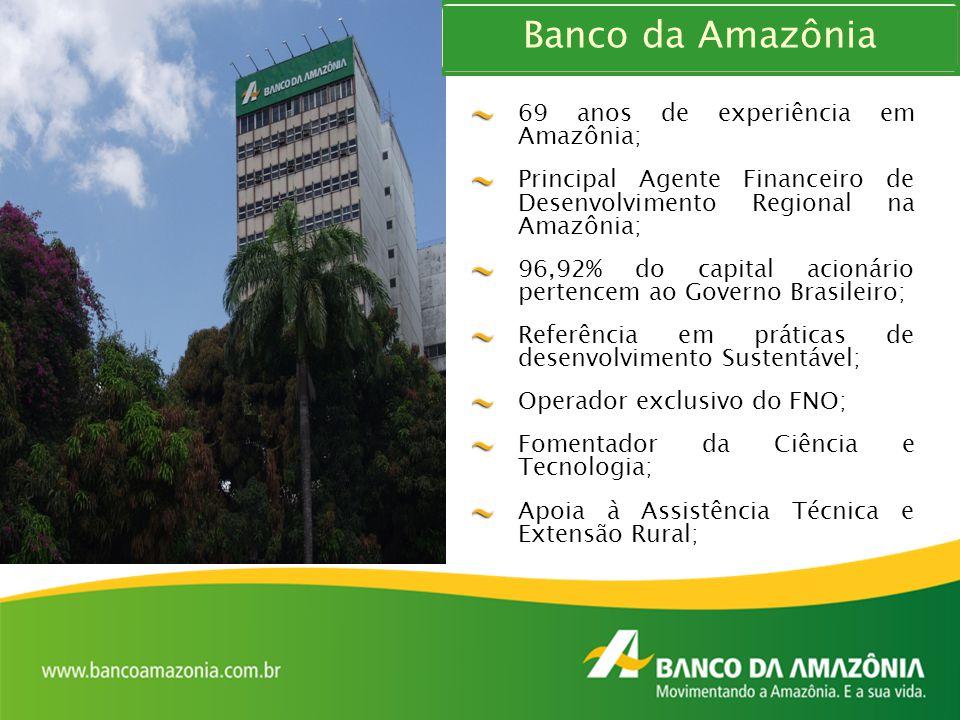 Banco da Amazônia 69 anos de experiência em Amazônia;