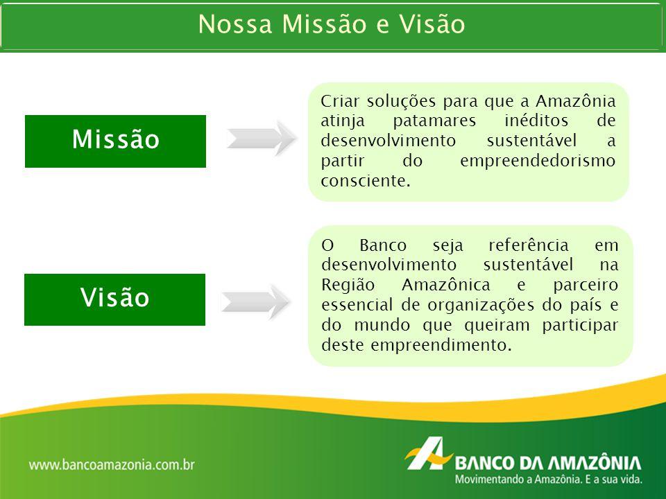 Nossa Missão e Visão Missão Visão