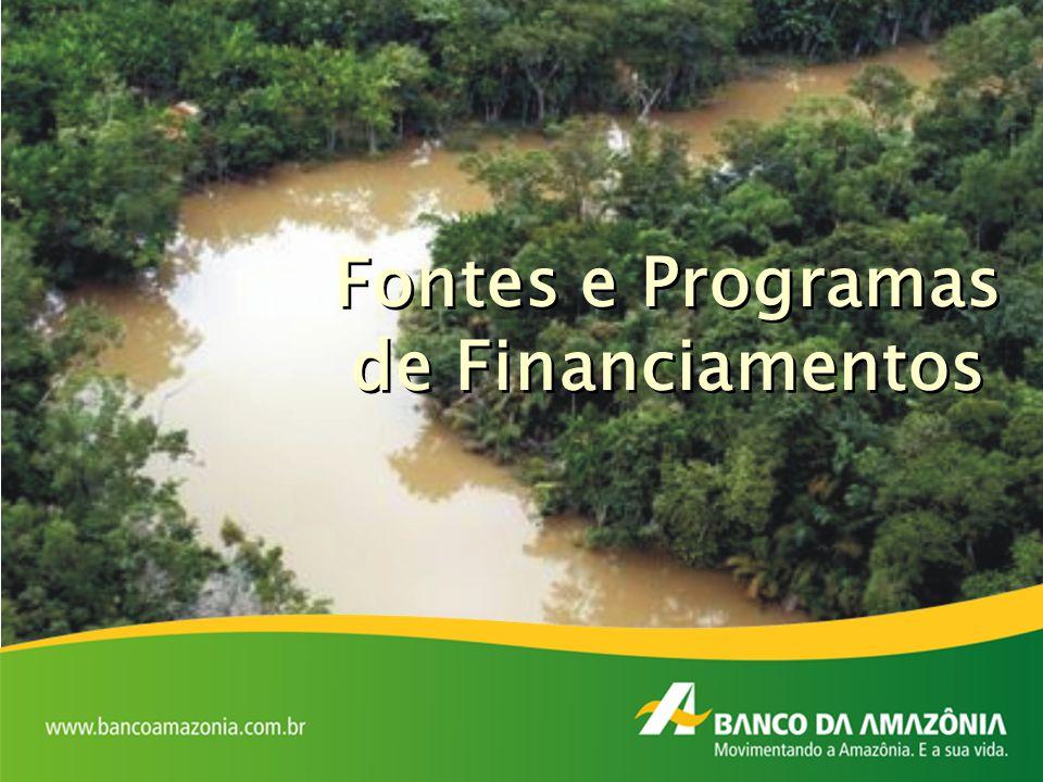 Fontes e Programas de Financiamentos