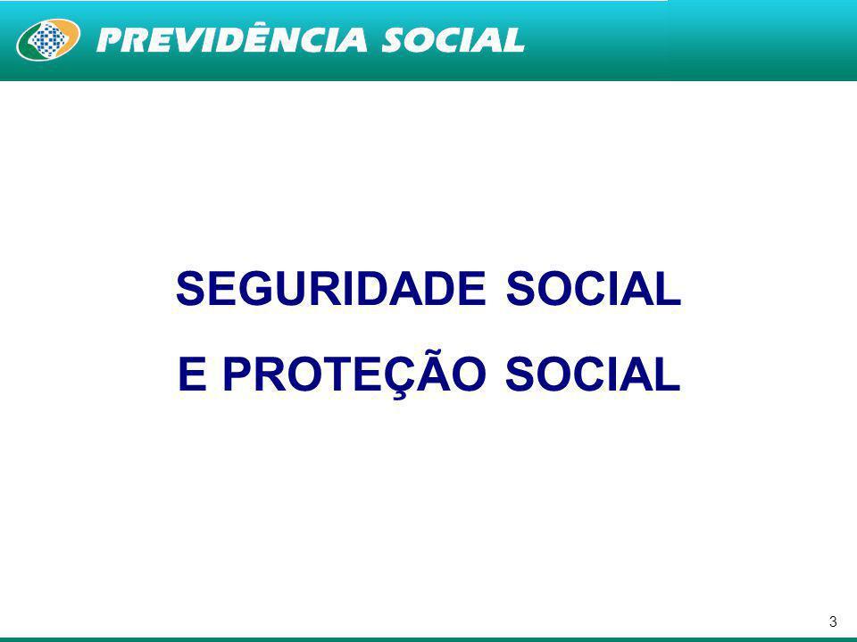 SEGURIDADE SOCIAL E PROTEÇÃO SOCIAL
