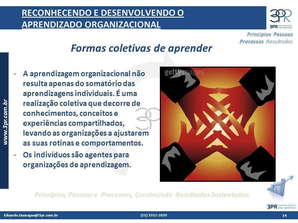 RECONHECENDO E DESENVOLVENDO O APRENDIZADO ORGANIZACIONAL
