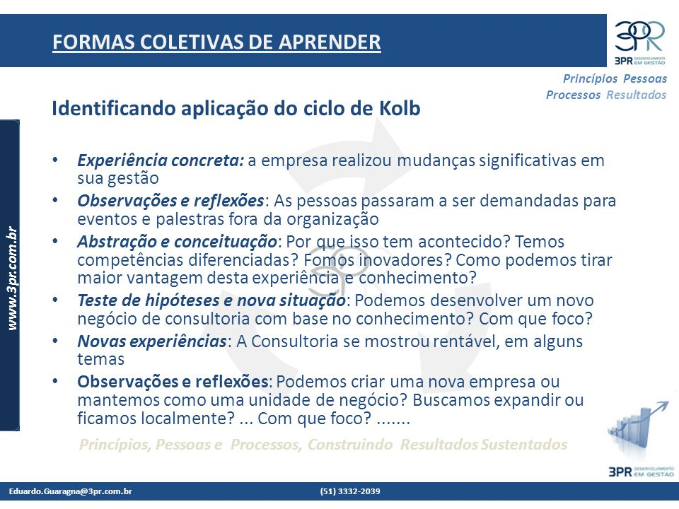 FORMAS COLETIVAS DE APRENDER