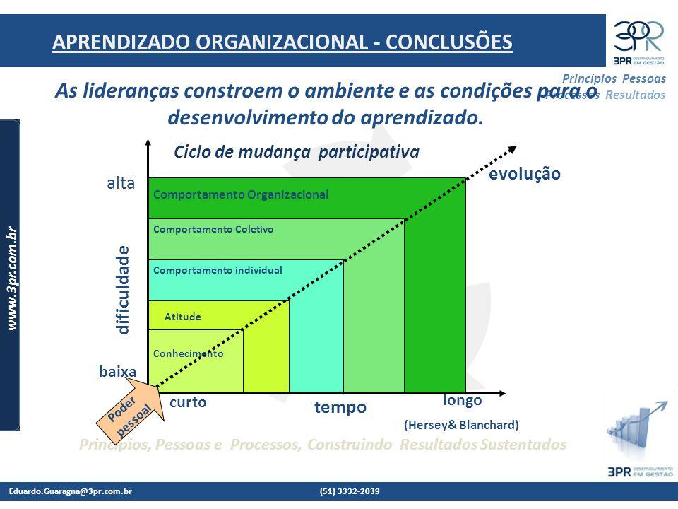 APRENDIZADO ORGANIZACIONAL - CONCLUSÕES