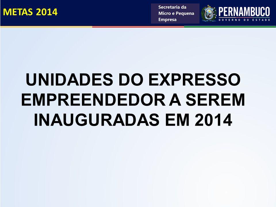 UNIDADES DO EXPRESSO EMPREENDEDOR A SEREM INAUGURADAS EM 2014