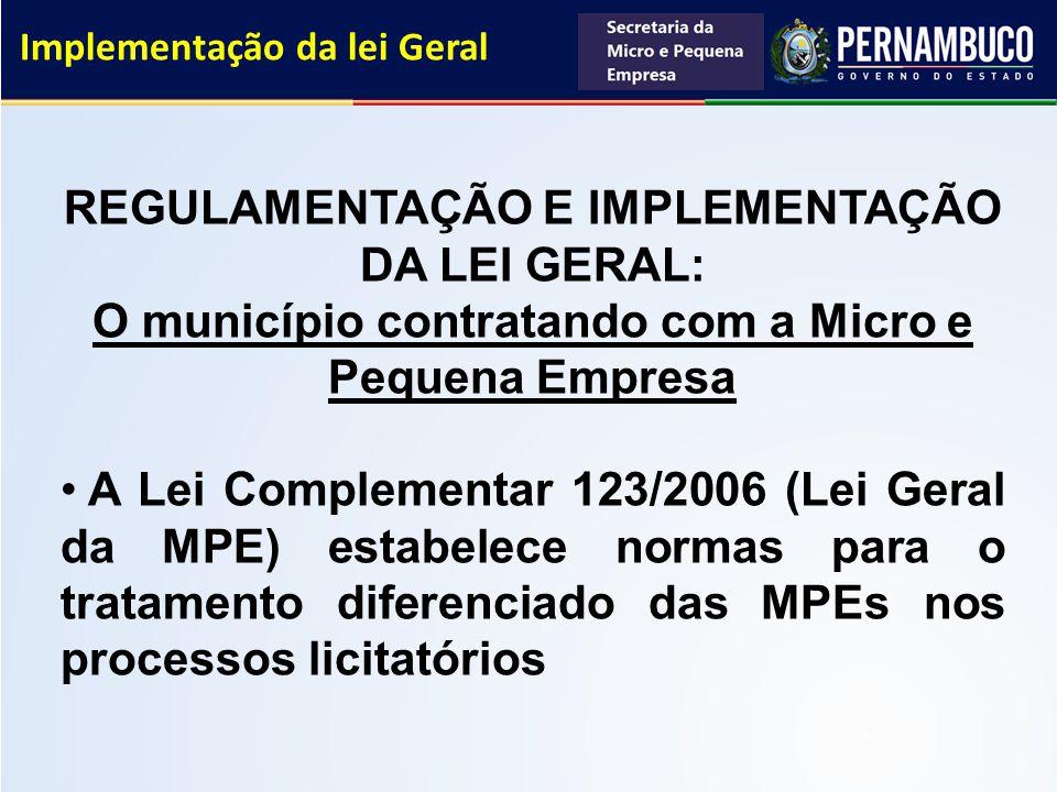 Implementação da lei Geral