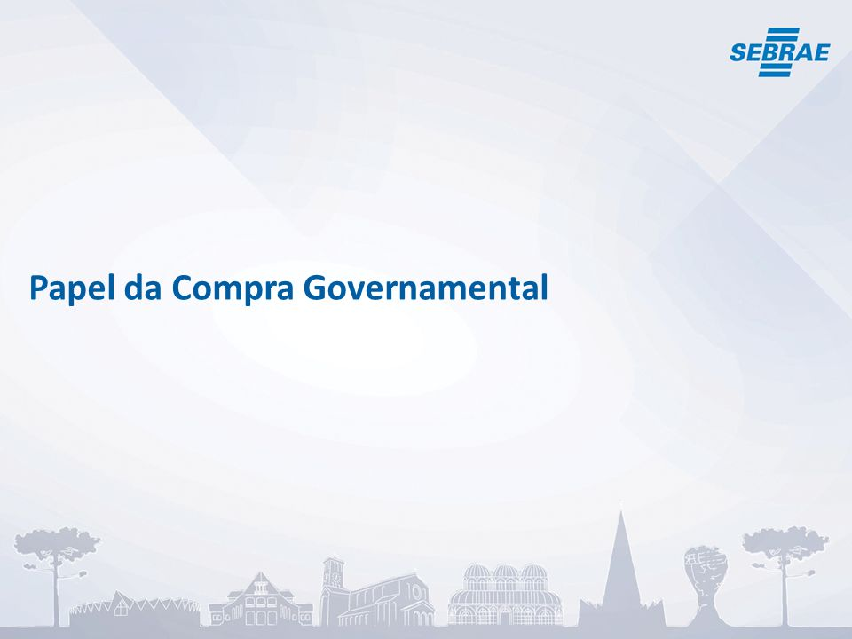 Papel da Compra Governamental