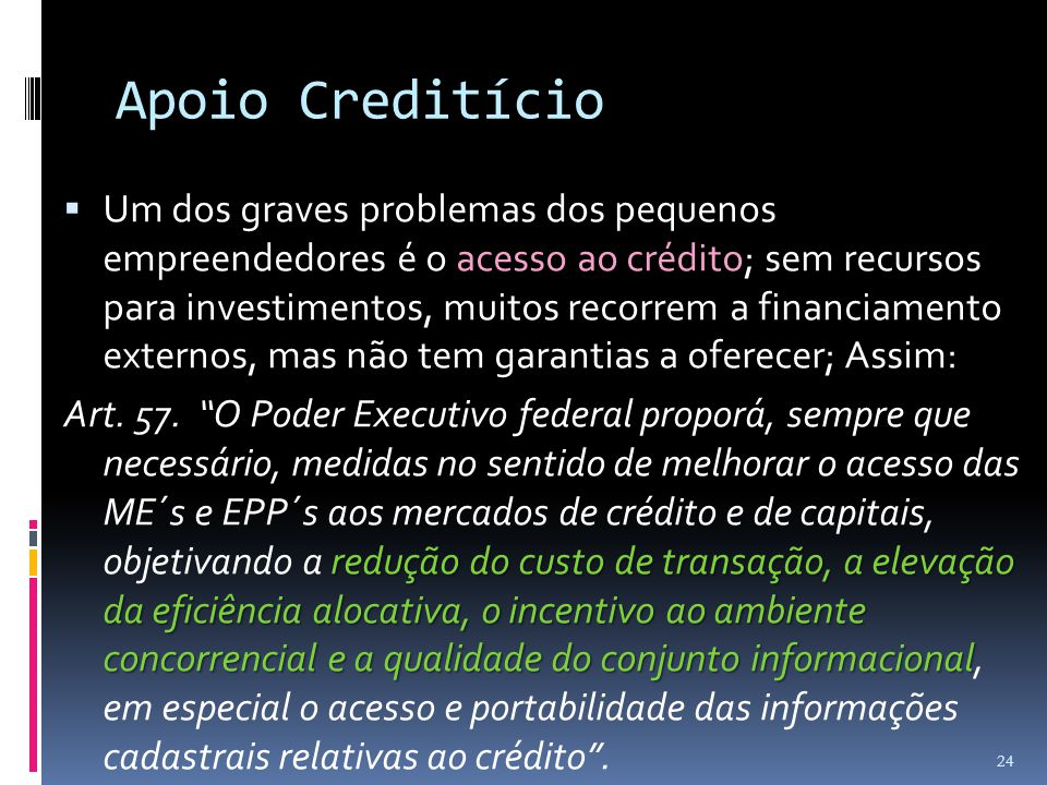 Apoio Creditício
