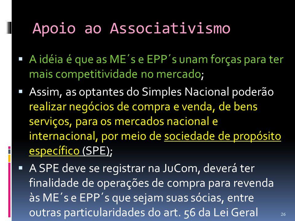 Apoio ao Associativismo