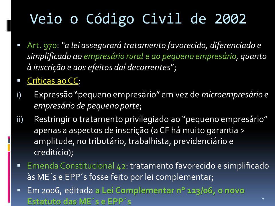 Veio o Código Civil de 2002
