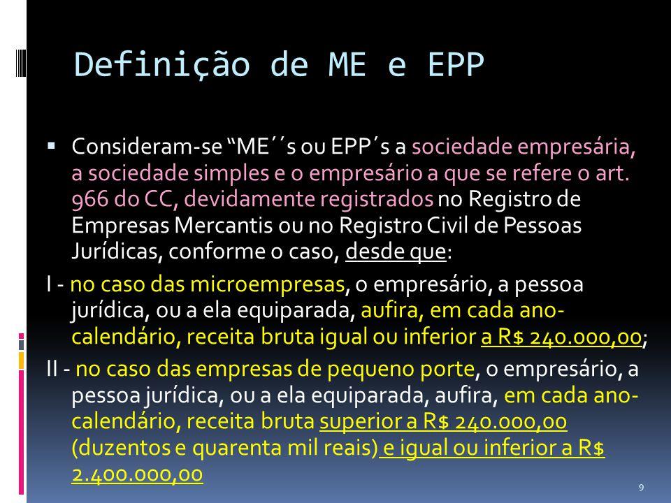 Definição de ME e EPP