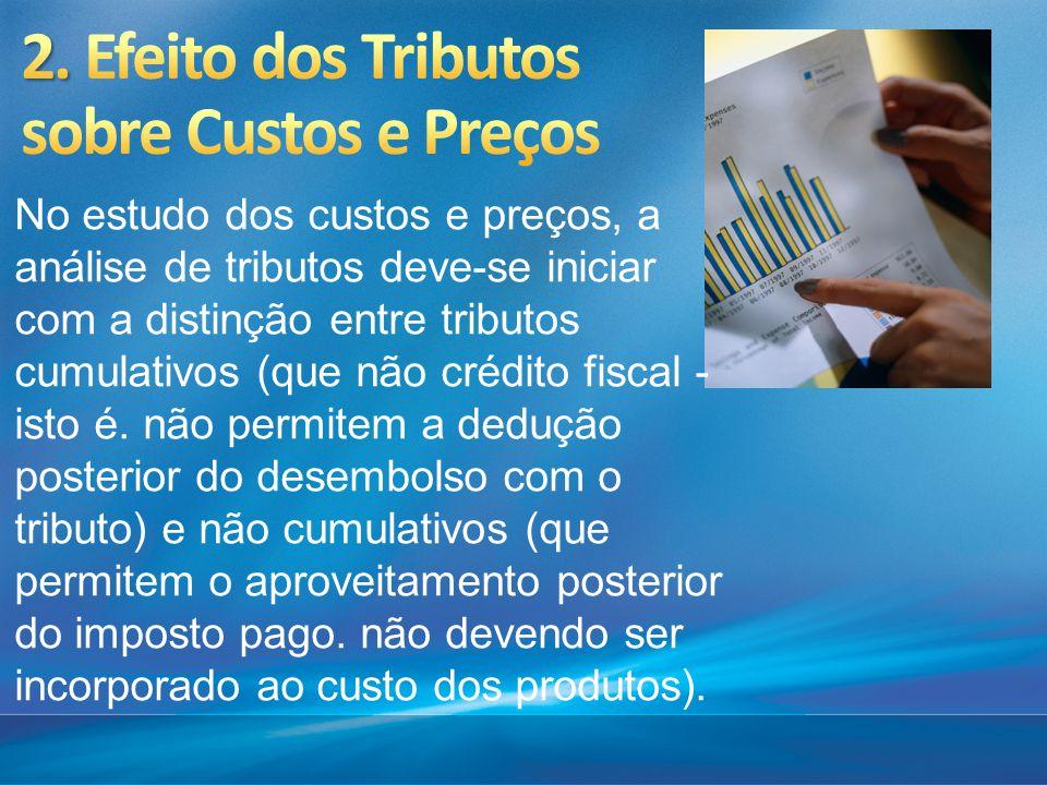 2. Efeito dos Tributos sobre Custos e Preços