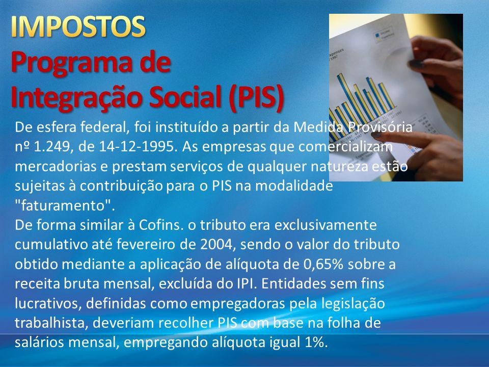 IMPOSTOS Programa de Integração Social (PIS)