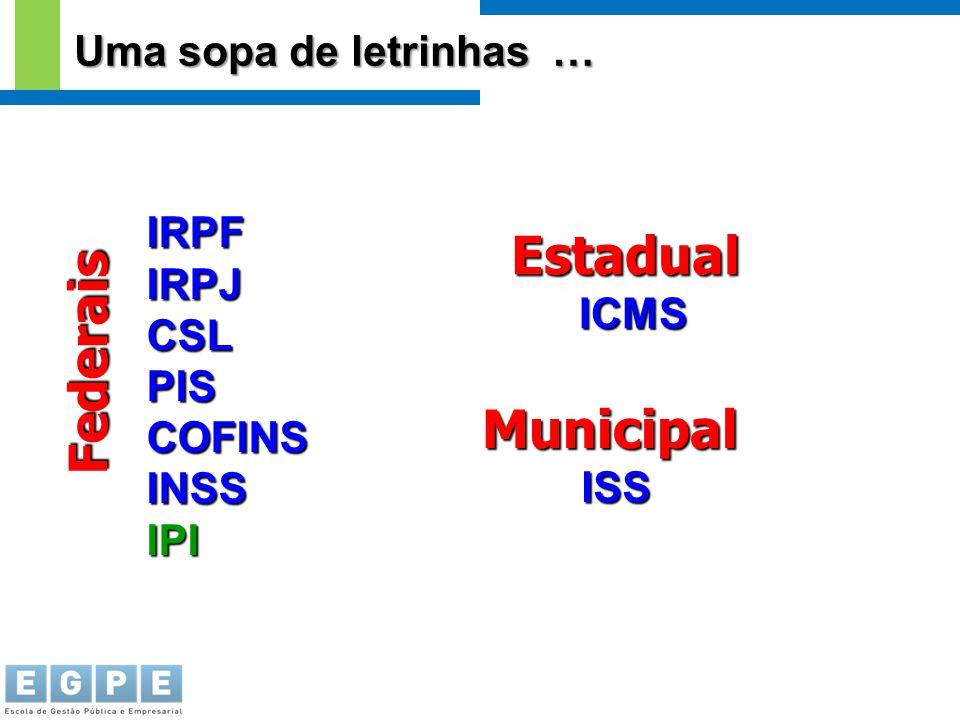 Federais Estadual Municipal