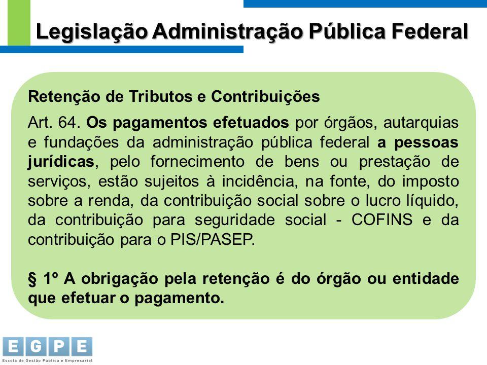 Legislação Administração Pública Federal
