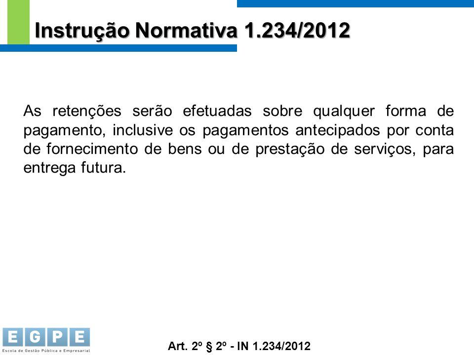 Instrução Normativa 1.234/2012