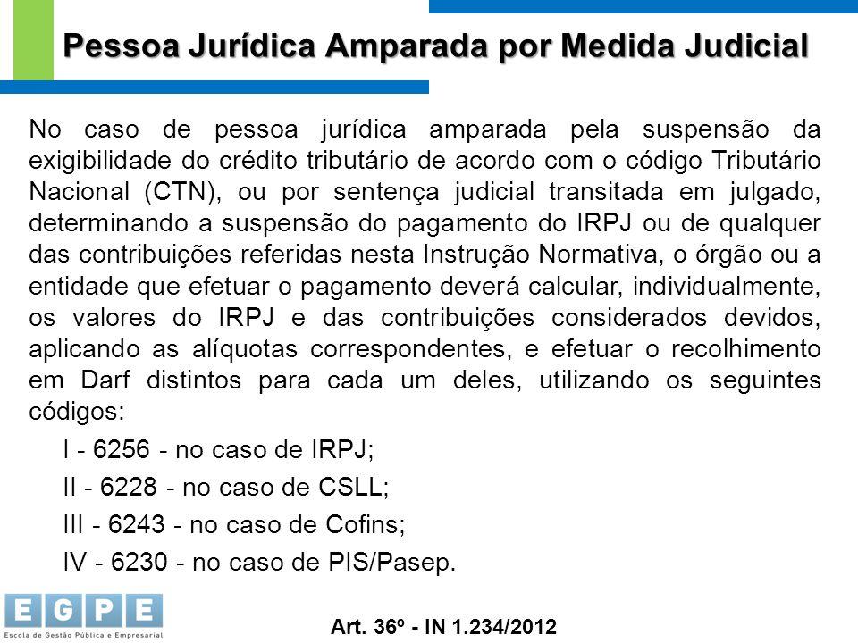 Pessoa Jurídica Amparada por Medida Judicial