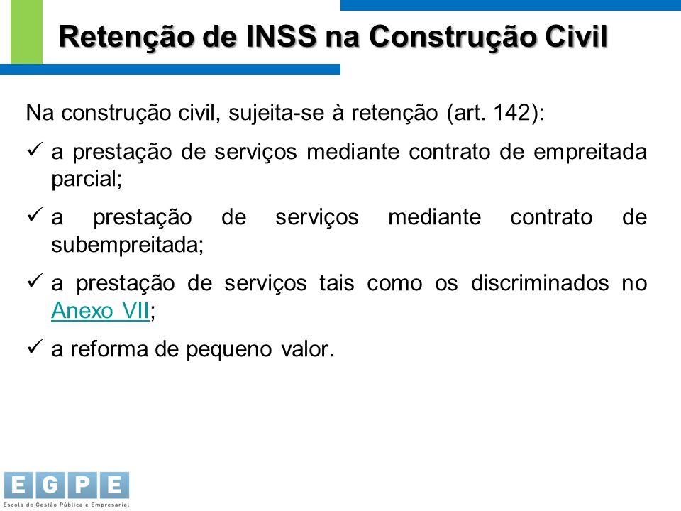 Retenção de INSS na Construção Civil