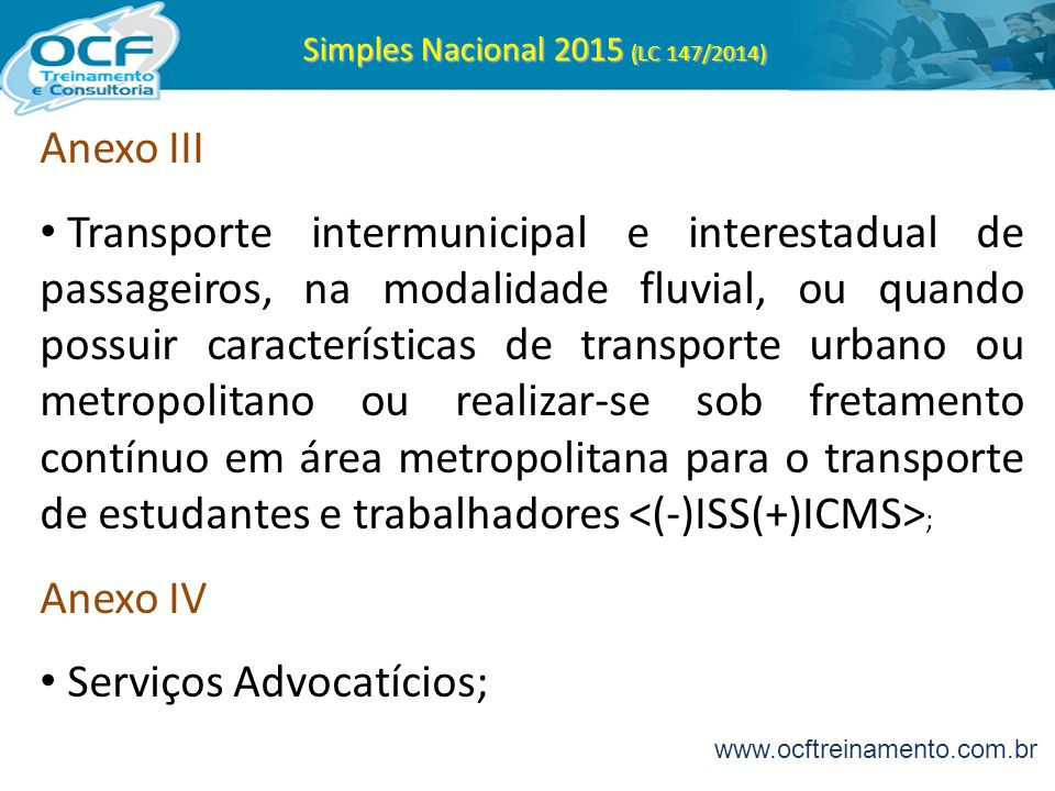Simples Nacional 2015 (LC 147/2014)