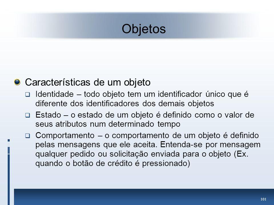 Objetos Características de um objeto