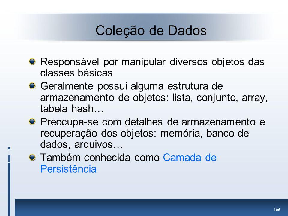 Coleção de Dados Responsável por manipular diversos objetos das classes básicas.