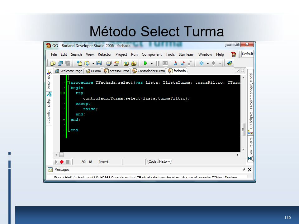 Método Select Turma