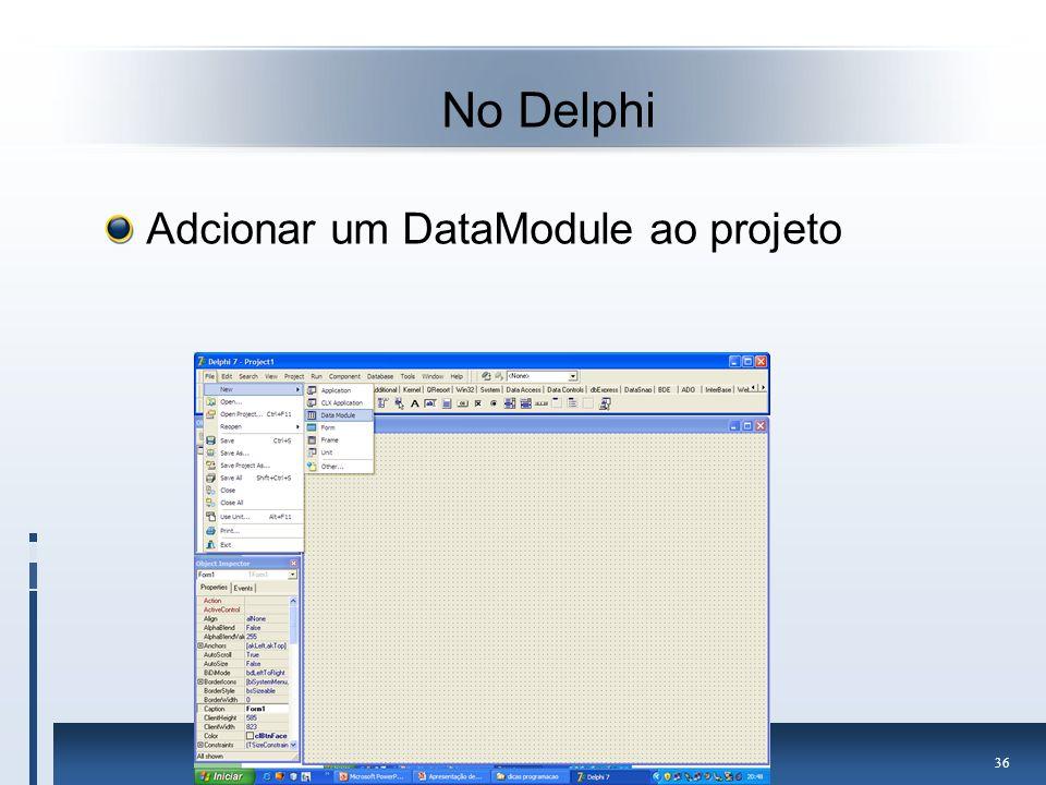 No Delphi Adcionar um DataModule ao projeto
