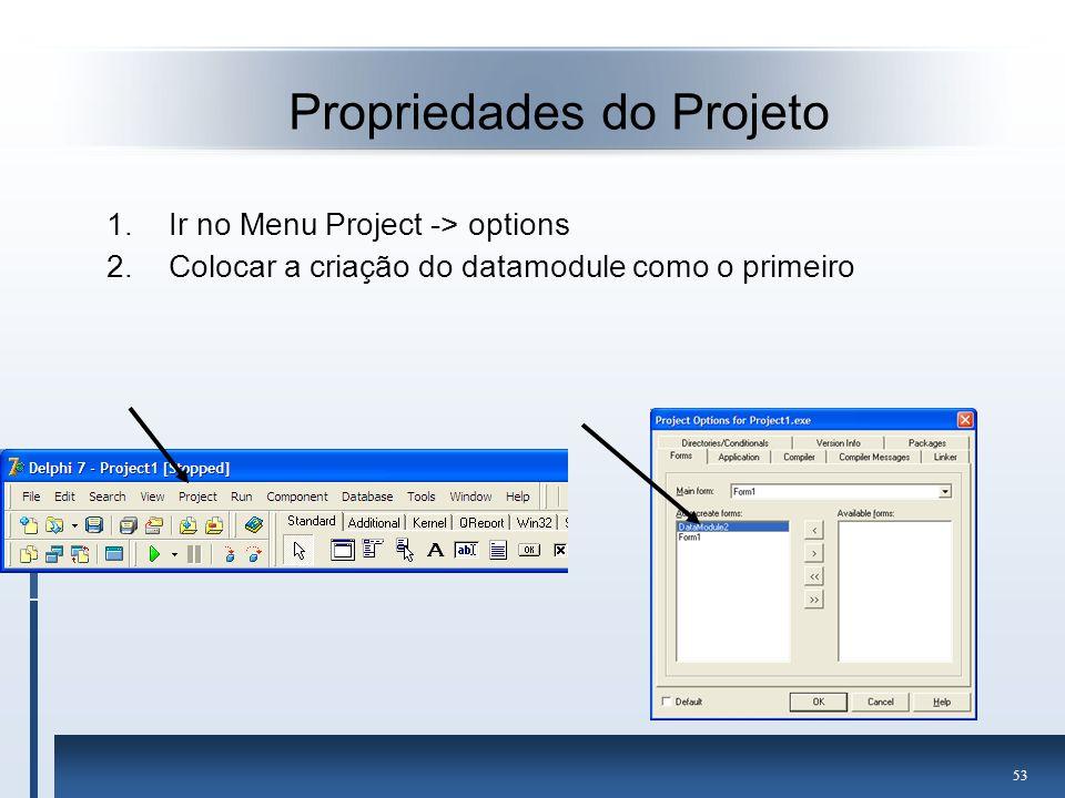 Propriedades do Projeto