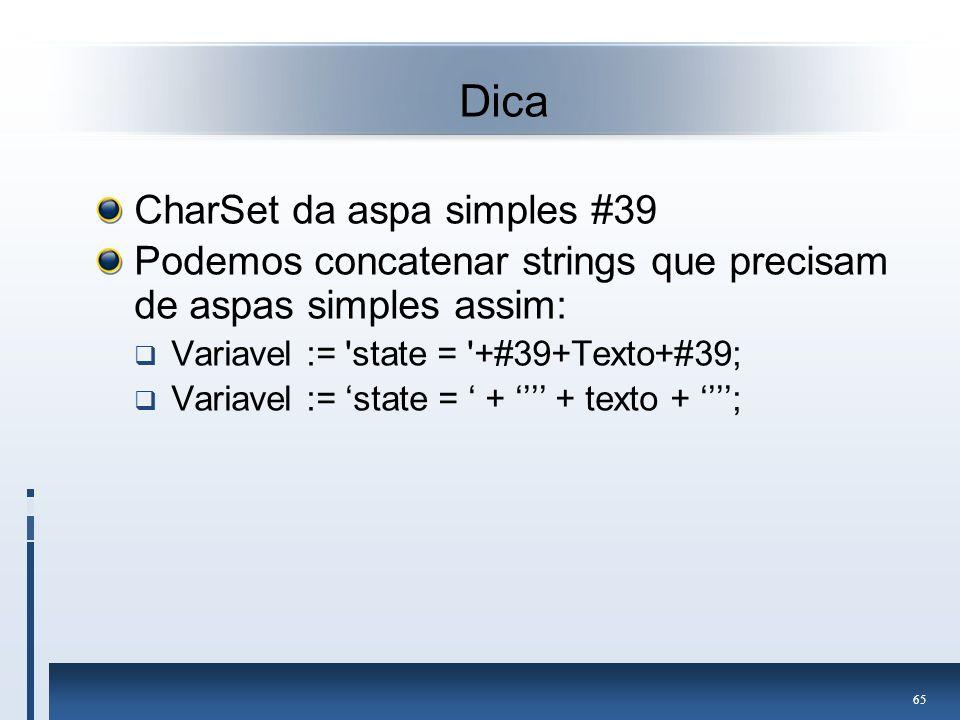 Dica CharSet da aspa simples #39