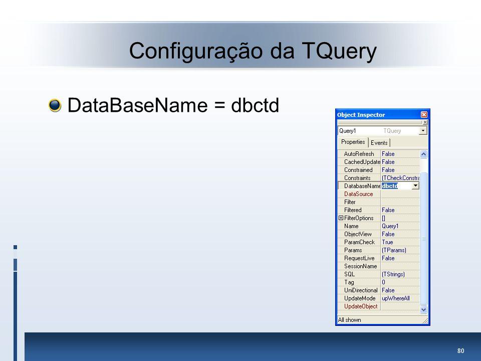 Configuração da TQuery