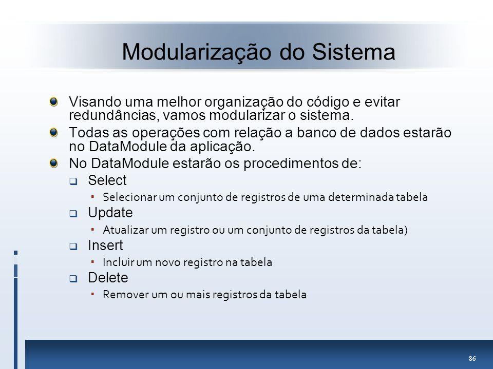 Modularização do Sistema
