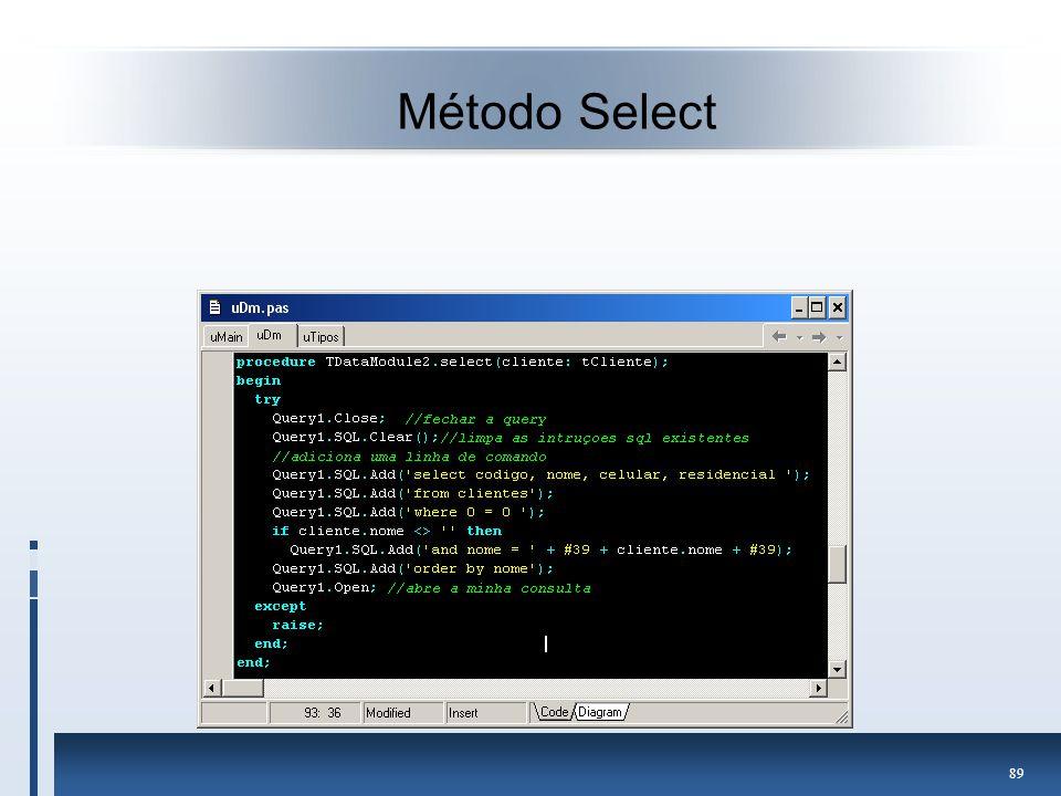 Método Select