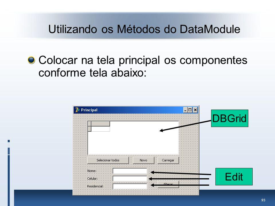 Utilizando os Métodos do DataModule