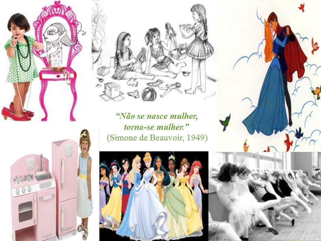 Não se nasce mulher, torna-se mulher. (Simone de Beauvoir, 1949)