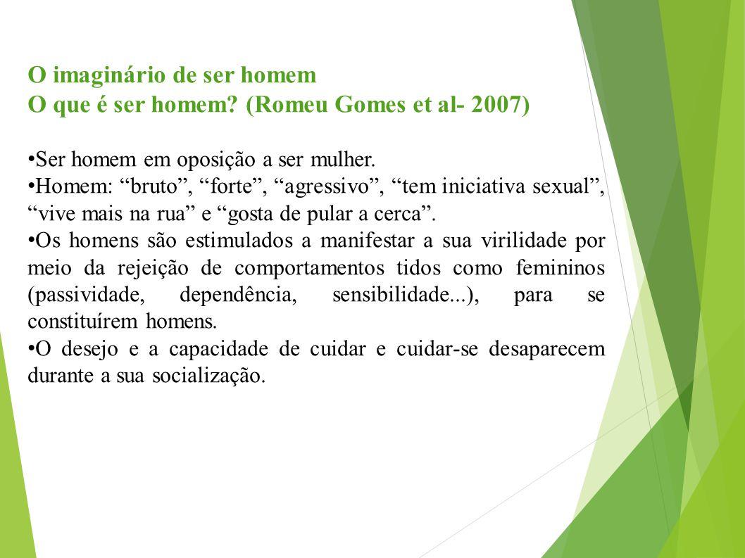 O imaginário de ser homem O que é ser homem (Romeu Gomes et al- 2007)