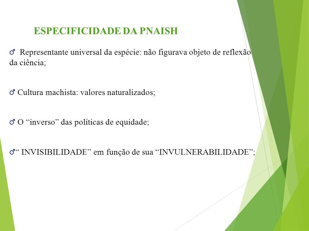 ESPECIFICIDADE DA PNAISH