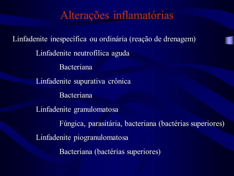 Alterações inflamatórias