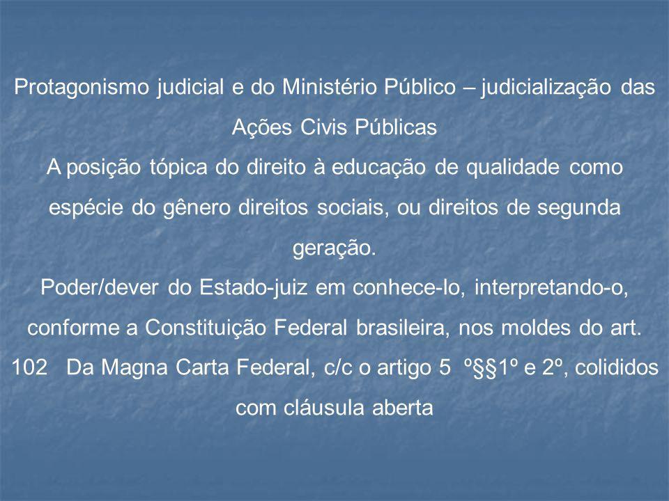 Protagonismo judicial e do Ministério Público – judicialização das Ações Civis Públicas