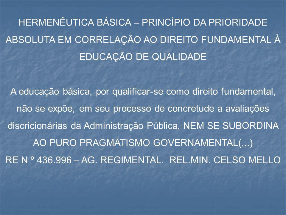 RE N º 436.996 – AG. REGIMENTAL. REL.MIN. CELSO MELLO
