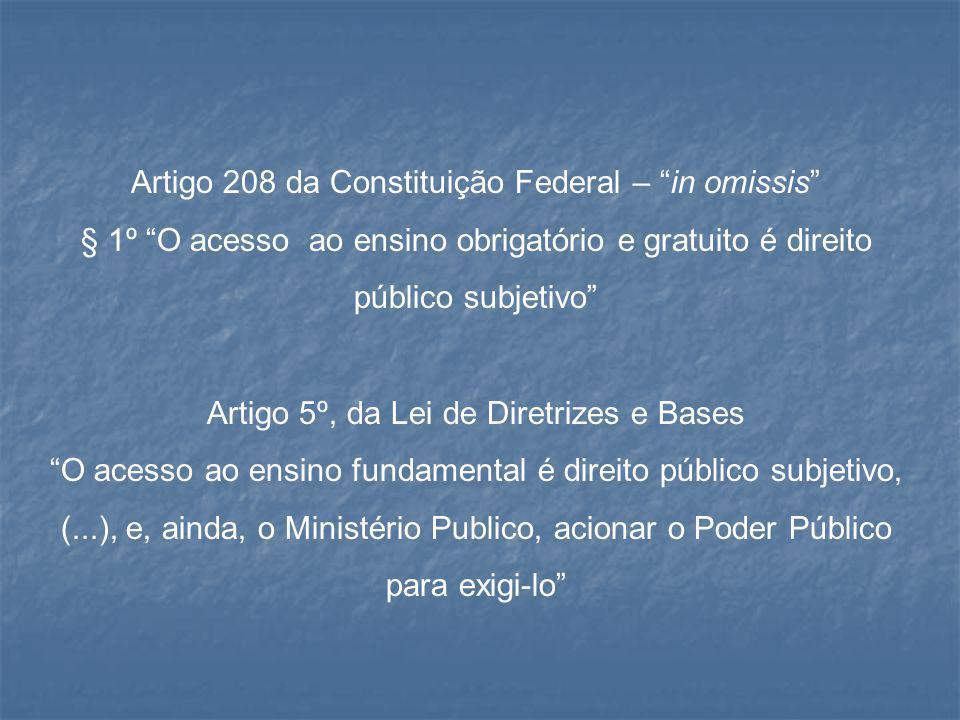 Artigo 208 da Constituição Federal – in omissis