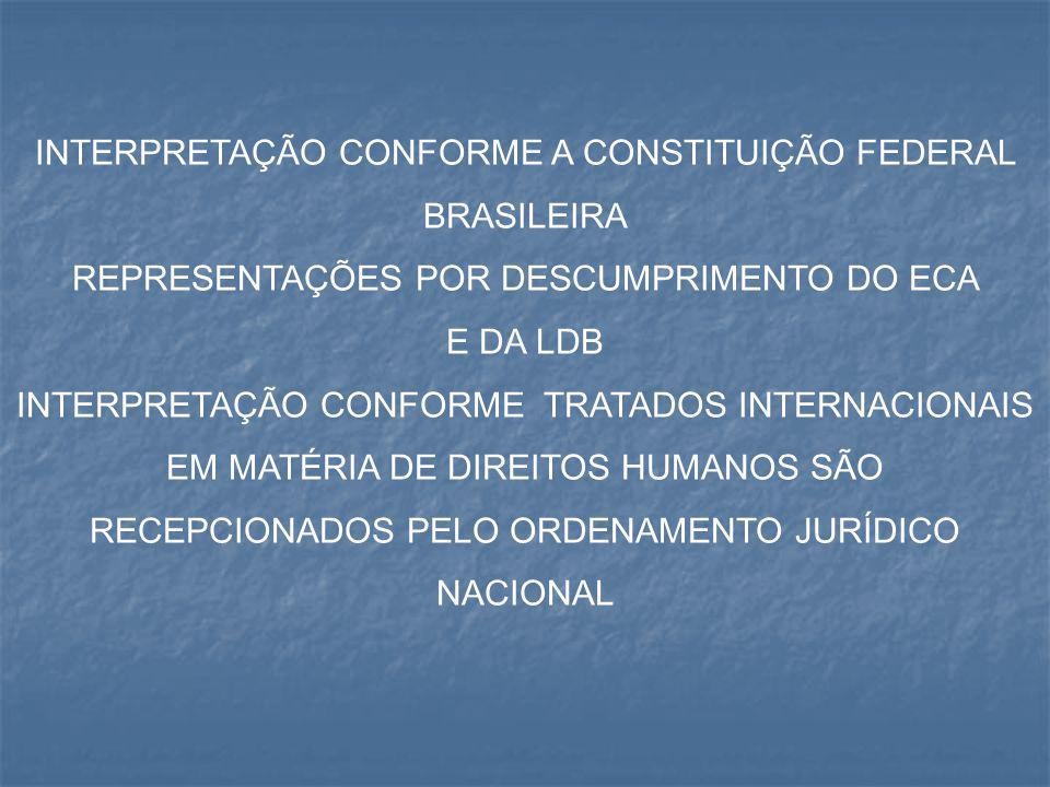 INTERPRETAÇÃO CONFORME A CONSTITUIÇÃO FEDERAL BRASILEIRA