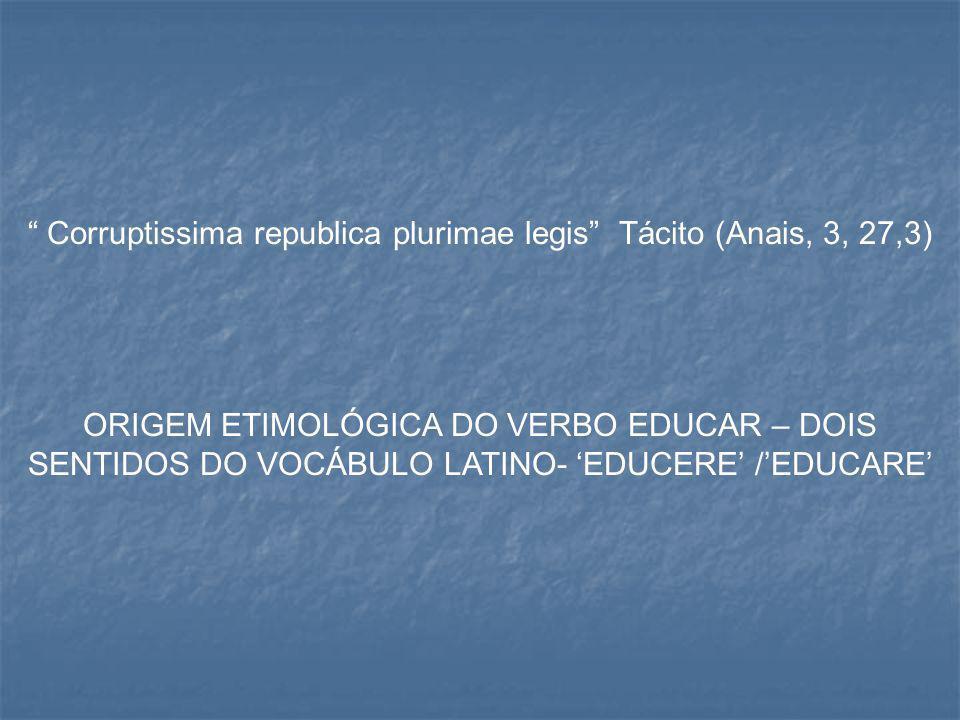 Corruptissima republica plurimae legis Tácito (Anais, 3, 27,3)