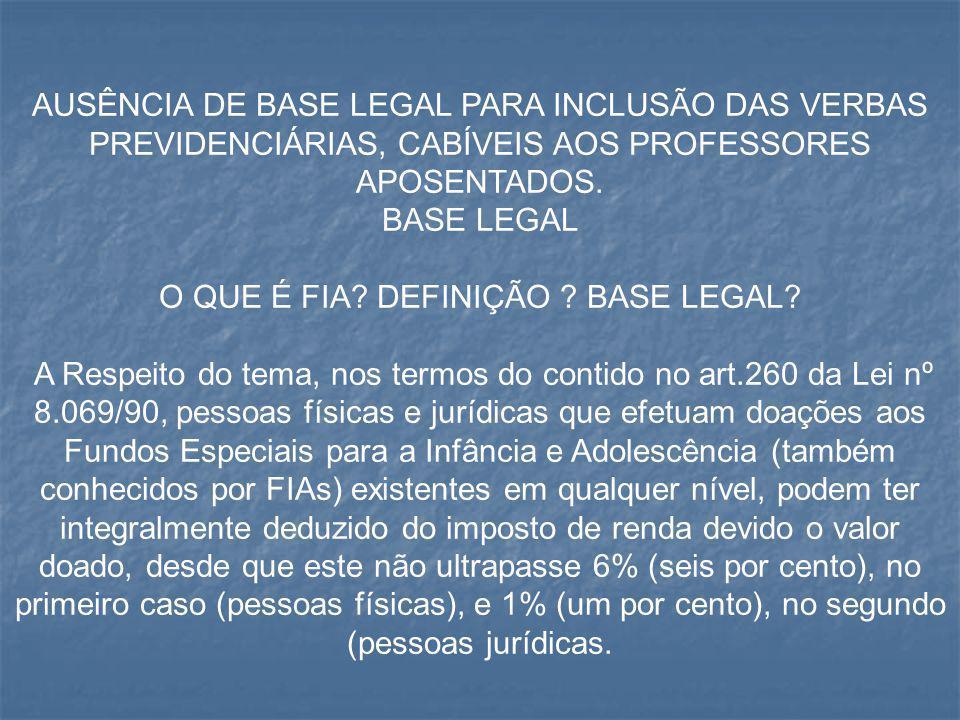 O QUE É FIA DEFINIÇÃO BASE LEGAL