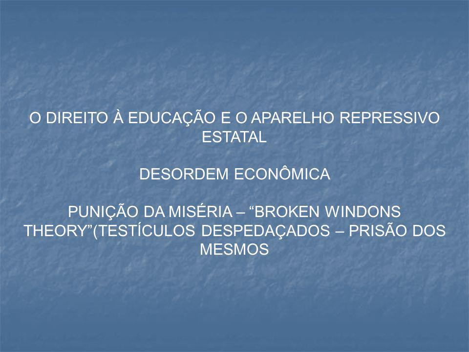O DIREITO À EDUCAÇÃO E O APARELHO REPRESSIVO ESTATAL