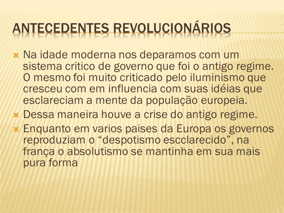 Antecedentes revolucionários