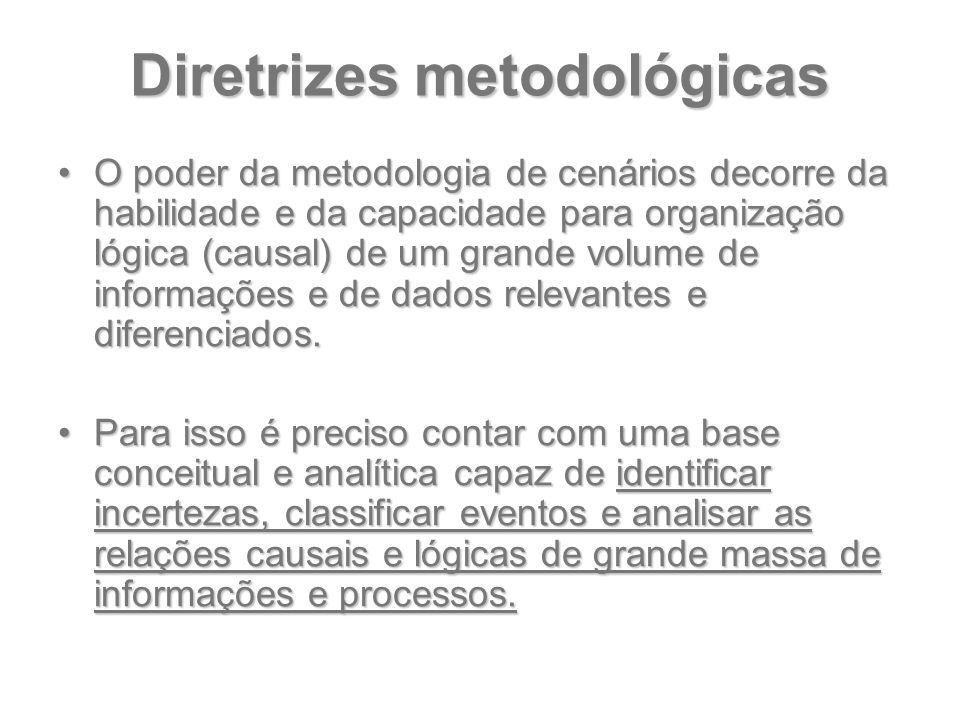 Diretrizes metodológicas