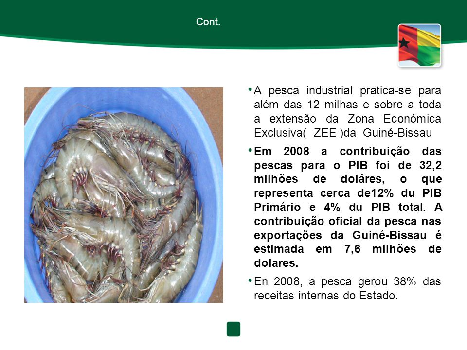 En 2008, a pesca gerou 38% das receitas internas do Estado.