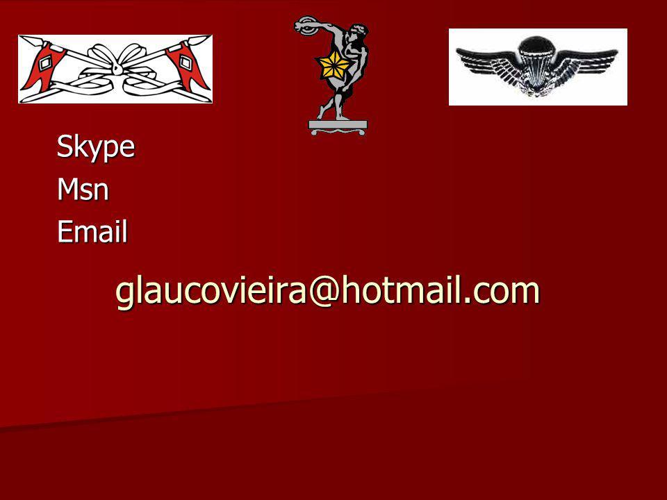 Skype Msn Email glaucovieira@hotmail.com
